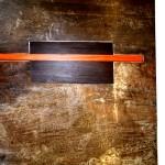 Tables basses. Cm50x50,h cm30.Cm50x30,h cm30 Acier travaillé,bois 2006©MarcelloTogni