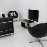 Tables basses. Cm50x30,h cm30 Acier travaillé,bois 2006©MarcelloTogni