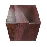 Table de chevet ou petit table Cm45x45, h cm45 Acier travaillé; bois 2007©MarcelloTogni