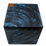 Tables de chevet. Cm45x45,h cm45 Acier travaillé; bois 2006©MarcelloTogni