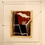 Premier cadre:cm32x40; distance du mur:cm8. Second cadre: cm62x70;h. cm2.Plexiglass;acier 2010©MarcelloTogni