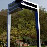 Portail. Gauche:cm10x12/25,h cm277 Droite:cm10x12/24,5,h cm261 Acier vernis 2009©MarcelloTogni