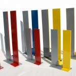 Chandeliers Cm10x3, h cm20; cm12x3, h cm30; cm16x4,h cm40 Acier travaillé/vernis 2007©MarcelloTogni