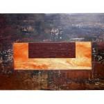 Tables basses Cm50x30, h cm30. Acier travaillé, bois©MarcelloTogni