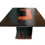 Tables bassesCm50x30, h cm30. Acier travaillé, bois©MarcelloTogni
